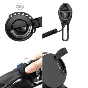 Image 3 - for Xiaomi Mijia M365 Electric Scooter Electronic Bell USB Charging Waterproof Horn for MTB Road Bike 3 Modes Ring Bicycle Alarm
