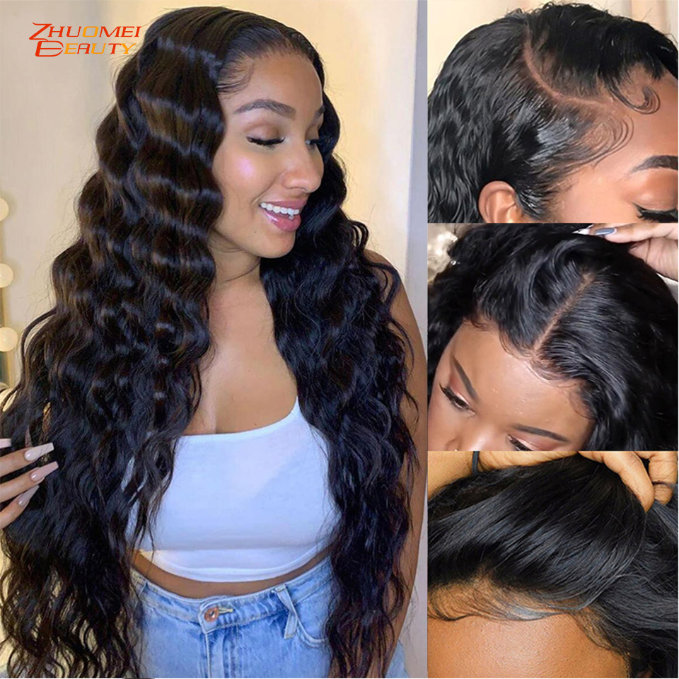 Malaysian Loose Deep Wave Wig 13x6 LaceFront Wig Human Hair 180 Density 30 Inch Lace Front Wig 360 Lace Frontal Wig Remy