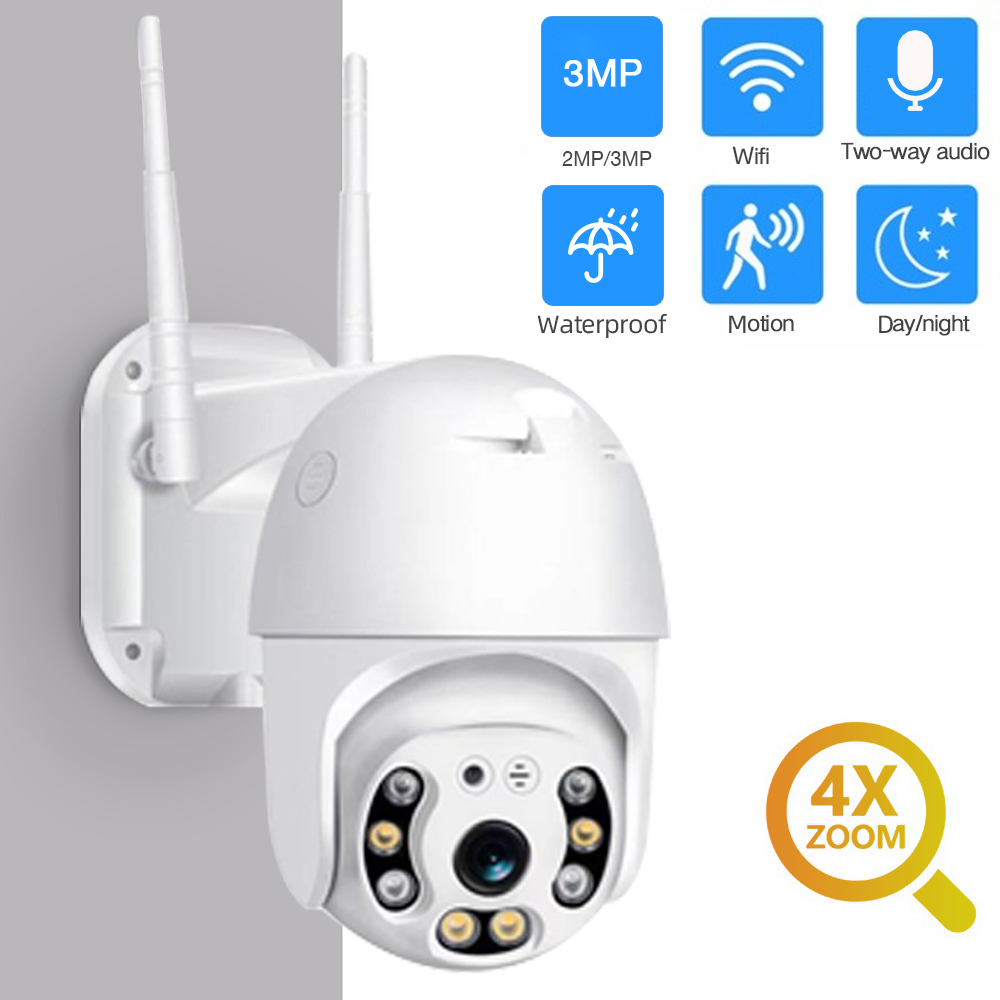SDETER 3MP 2MP Security WIFI Camera Outdoor 1080P PTZ Speed Dome Wireless IP Camera CCTV Pan Tilt 4XZoom IR Network Surveillance