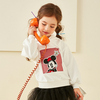 Disney Baby Children's Clothing Girls Knitted Hooded Clothing 2019 Children's Casual Coat Baby Sweatshirt Mickey Mouse Clothing