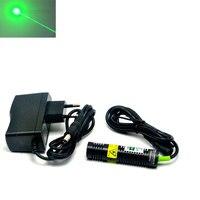 18x75mm Dot Grün Laser Lichter 532nm 30mw Laser Modul f Positionierung Nähen Maschine Druck w 5V Adapter-in Bühnen-Lichteffekt aus Licht & Beleuchtung bei