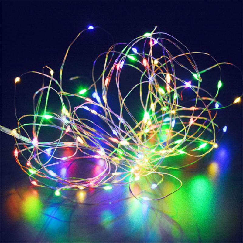 Garland <font><b>LED</b></font> Light Strings Christmas Fairy Light Fairy Lights Outdoor <font><b>Battery</b></font> <font><b>Operated</b></font> Garland Christmas Decoration Party Wedding image