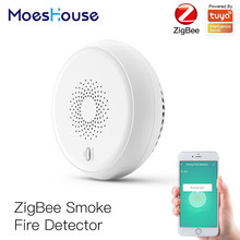 Zigbee Smart Rauch Feuer Alarm Sensor Detektor Home Security System Batterie-powered Alarm Wireless Smart Leben Tuya App Control