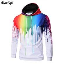 Markyi 3d толстовки Новый стиль Модные с капюшоном Мужские повседневные