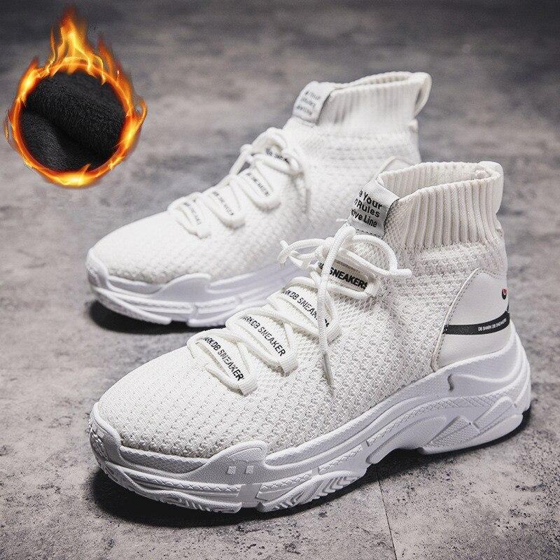 Homme Sneaker plein air confortable léger chaussures de loisir à la mode Flyknit tendance automne appartements marche chaussette chaussures Zapatillas Hombre marque