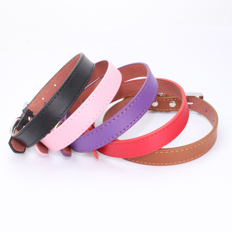 Dog Collar Leather Pet Collar Chain Cats Supplies Applicable Medium And Small Dogs