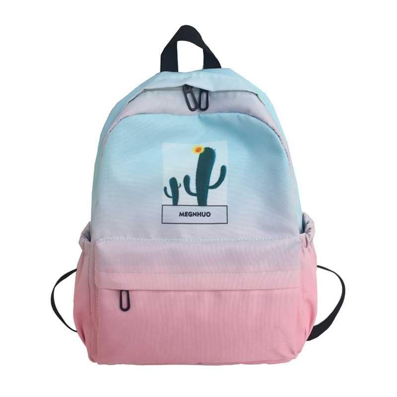 Модный рюкзак радужного цвета на молнии для девочек Повседневный большой