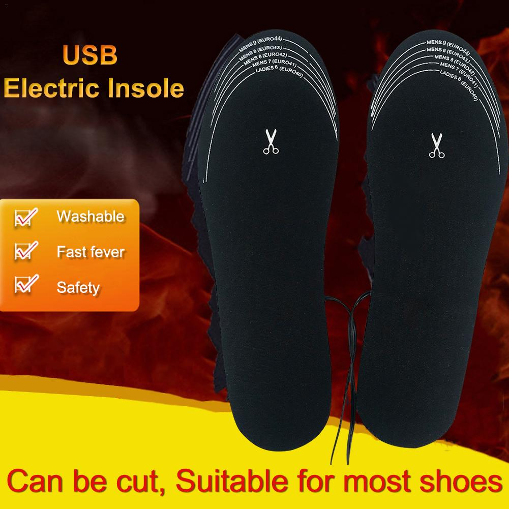 NEW USB Heated Shoe Sneaker Insoles Foot Warming Pad Winter Mat Heater For Outdoor Sports Hot Sale Soft And Comfortable Insoles