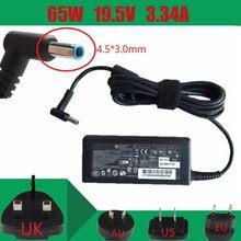Original 65w carregador adaptador de alimentação ca para hp spectre x360 -13t 13t-4100 toque portátil probook 430 g3, 450 g3, 455 g3, 470 g3, 440 g3, g3,
