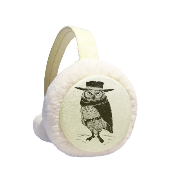 Black Bagcer Cute Animal Winter Earmuffs Ear Warmers Faux Fur Foldable Plush Outdoor Gift