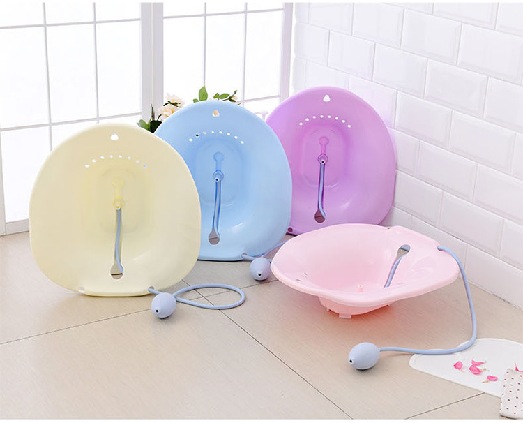 Sitting-Basin Remove-Steam-Seat Bidet Vaginal Bathroom Care of 1-Pc Natural-Stool Postoperative