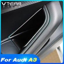 Vdéchirure – boîte de rangement de porte pour Audi A3 8v, poignée de porte de voiture, porte-conteneur, couvercle de rangement de poche, accessoires intérieurs