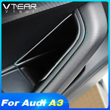 Vtear for Audi A3 door storage box car door handle container holder pocket stowing tidying cover interior accessories auto parts