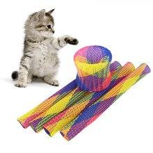 5 pçs gato saltando brinquedo livremente dobrável mola forma boa elasticidade animal de estimação engraçado jogando brinquedos suprimentos gato brinquedo interativo
