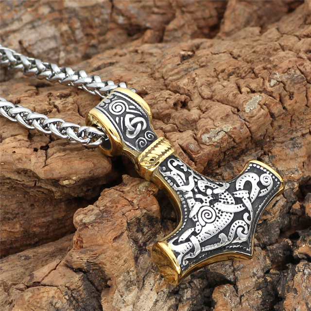 Collier ancre marine viking acier inoxydable  3