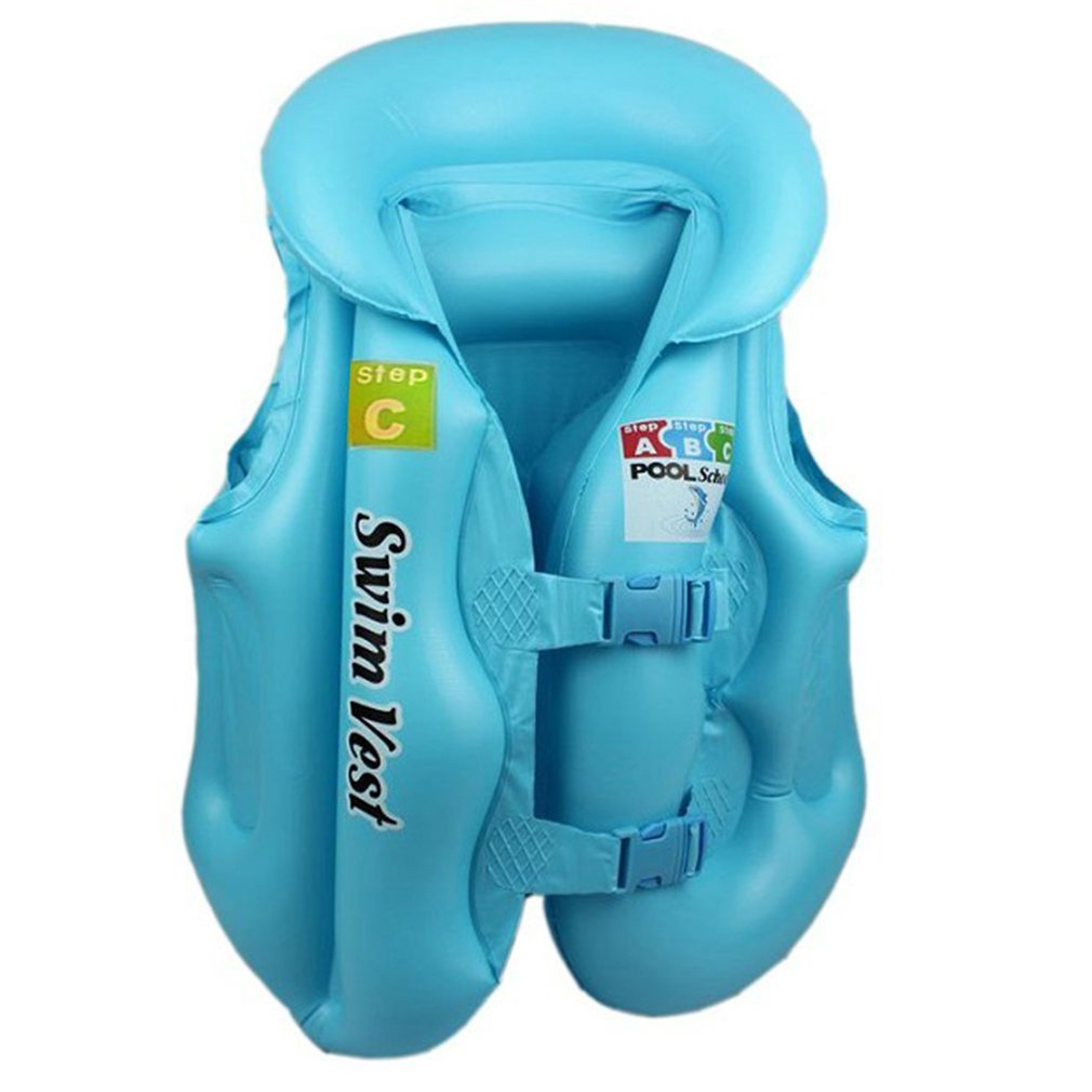 Kids Safety Swimming Life Jacket Vest Baby Swimwear Suit PVC Inflatable Pool Float Swimming Drifting Safety Vest Aid For Age 3-6