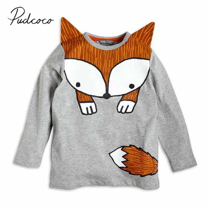 2019 Baby Spring Autumn Clothing Toddler Baby Kids Boy Girl Long Sleeve T-shirts Tops Clothes 3D Cartoon Pullovers