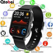 Połączenie Bluetooth inteligentny zegarek mężczyźni kobiety ciśnienie krwi tętno inteligentny zegarek do monitorowania odtwarzacz muzyczny zegarek z trackerem Fitness zegar PK P8