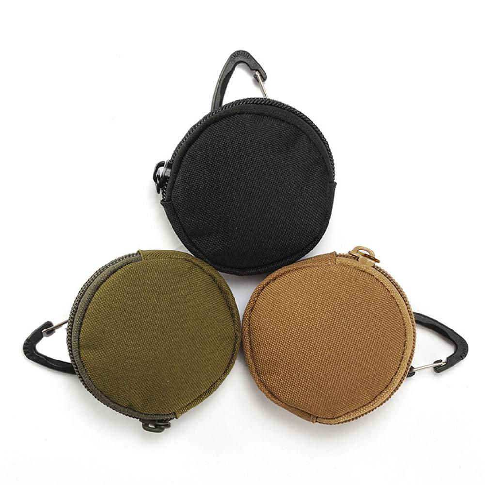 Keychain Zipper Small Pocket Pouch Mini Key Wallet Holder Men Coin Purses Pouch Military Army Camo Bag Outdoor Tool Bag Backpack