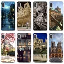 Para iphone ipod touch 11 12 pro 4 4S 5 5S se 5c 6s 7 8 x xr plus max 2020 catedral de notre-dame en paris capa de concha macia
