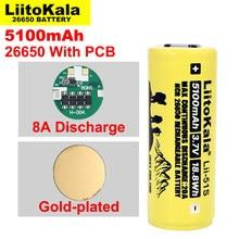 Liitokala – batterie au lithium, rechargeable, 26650, 8a, 26650A, 3.7V, ma, adaptée à la lampe de poche (protection PCB), 1 à 10 pièces