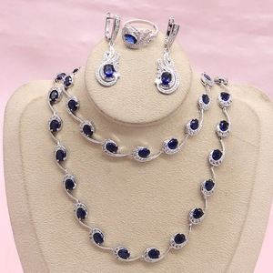 Blue Sapphire Jewelry Sets For