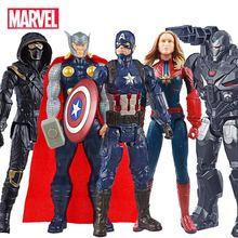 30cm Marvel Avengers 4 zabawki Ant Man Hawkeye War Machine Thanos kapitan ameryka Iron Man figurka dla dzieci boże narodzenie tanie tanio Disney Puppets CN (pochodzenie) Unisex NONE 30cm 12 Pierwsze wydanie 3 lat Wyroby gotowe Marvel the Avengers 4 Zachodnia animiation