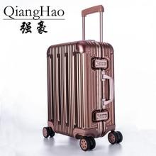 QiangHao чехол для тележки на колесиках Алюминиевый сплав чехол на колесиках сумка для ручной клади высокого качества