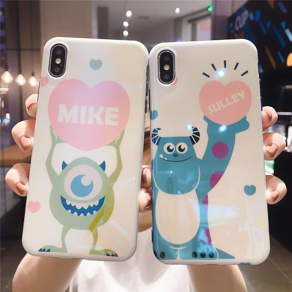 Image 3 - Funny Cartoon Cute Lovely Girly Couple Phone Case For iPhone X 8 7 6 6s plus XS11 Pro Max XR Grip Holder Stand Back Cover Coque-in Fitted Cases from Cellphones & Telecommunications