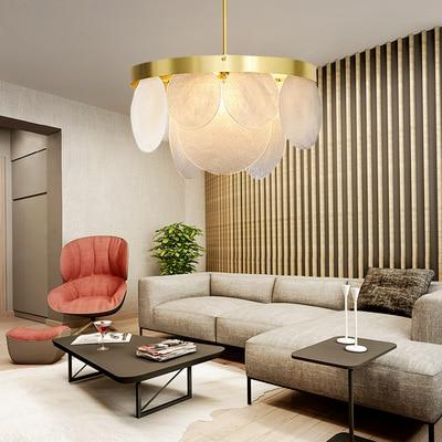 Işıklar ve Aydınlatma'ten Kolye ışıkları'de Modern Minimalist Kolye Işık Lamba Nordic Tavan Giyim Dekorasyon cam küre Lamba Oturma Odası Yatak Odası Yemek Odası title=