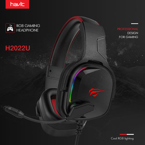 Image 2 - Havit หูฟังสำหรับเล่นเกม 7.1 เสียงรอบทิศทาง USB แบบมีสาย RGB เกมหูฟังพร้อมไมโครโฟนสำหรับแท็บเล็ต PC XBOX ONE PS4