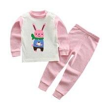 Girls Cartoon Pajamas Kids Sleepwear Children Autumn Clothing Set Baby Long Sleeve Pijamas Home Clothing for Boys Top+Pants 2017 children clothing set baby girl pijamas 100