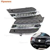 For Mercedes Benz W164 ML280 300 ML320 ML350 500 LED Daytime Running Lights White 2009 2011 Waterproof External Led Fog Bar Lamp