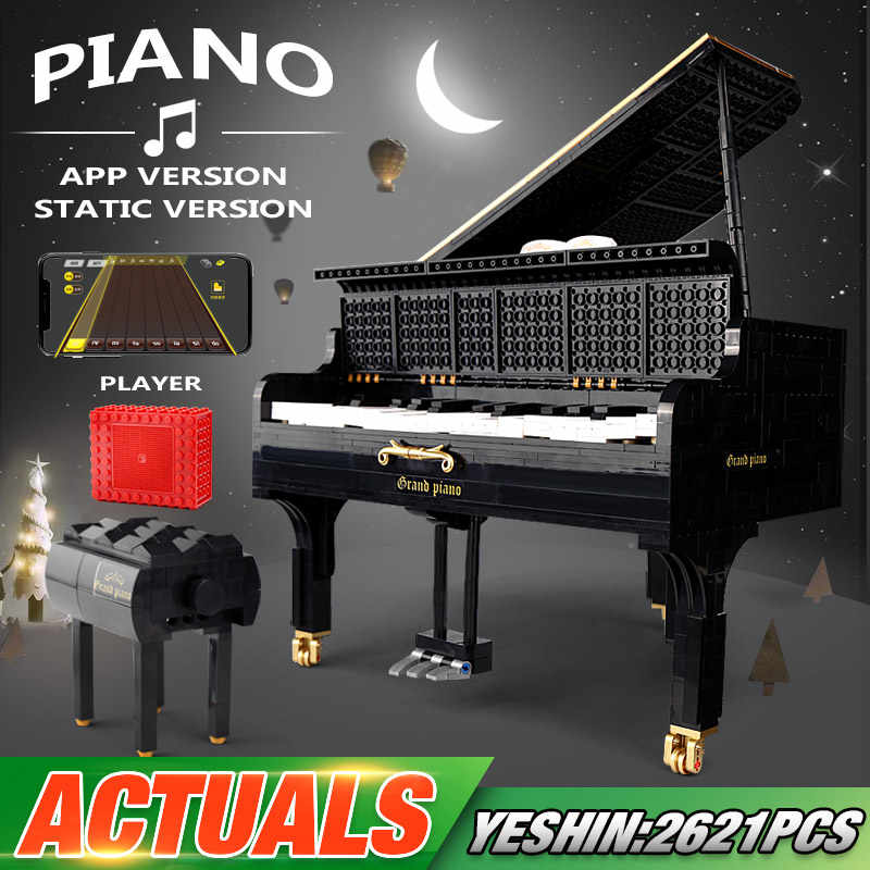 Yeshin Creative APP Control Toys The 21323 Playble Grand Piano Set modello di assemblaggio Building Blocks mattoni regali di natale per bambini