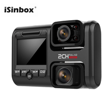 цена на ISINBOX 4K GPS Logger Dashcam Wifi Car Dvr Dual Lens Novatek 96663 Chip Sony IMX323 Sensor Car Camera Video Recorder Registrator