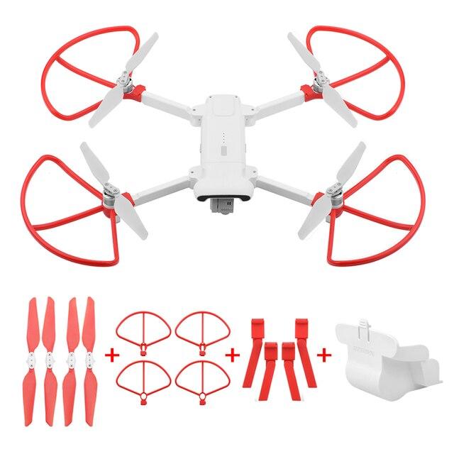 מתקפל מדחף + מורחב להגביר רגל חצובה + עדשת הגנת כיסוי + הגנת טבעות לxiaomi FIMI X8 SE Drone אבזרים