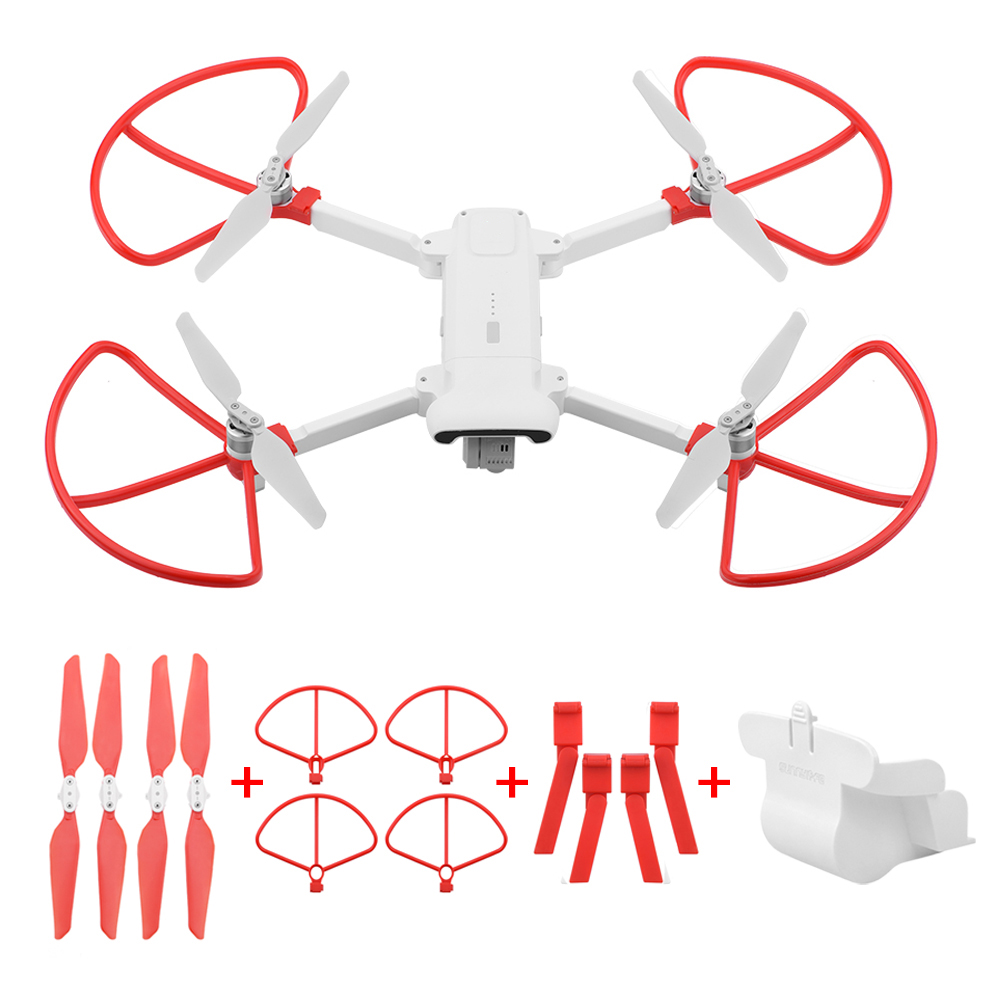 Folding Propeller+ Extended Heighten Leg Tripod+Lens protection cover + protection rings For Xiaomi FIMI X8 SE Drone Accessories Drone Accessories Kits     - title=