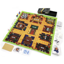Clue board games full English Retro Series classic Detective card game wood tokens toys for kids gift home family party fun