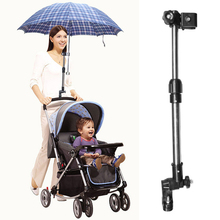 Accessories With Clip Outdoor Durable Mount Threaded Umbrella Holder Riding Adjustable Detachable Aluminum Alloy Baby Stroller