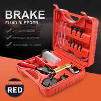 Hand Held Vacuum Pistol Pump Tester Kit DIY Brake Fluid Bleeder Tools Aluminum Pump Body Pressure Vacuum Gauge Multi-functional