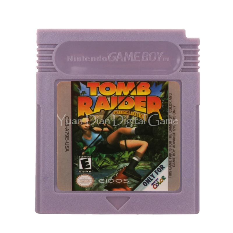 For Nintendo GBC Video Game Cartridge Console Card Tomb Raider English Language Version