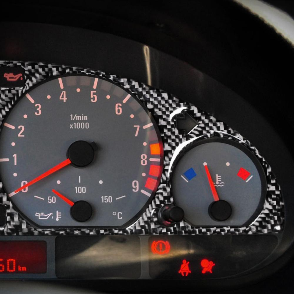 Carbon Fiber Internal Instrument Panel Decorative Frame Dashboard Cover Stickers Trim Interior For BMW E46 M3 1998-2005
