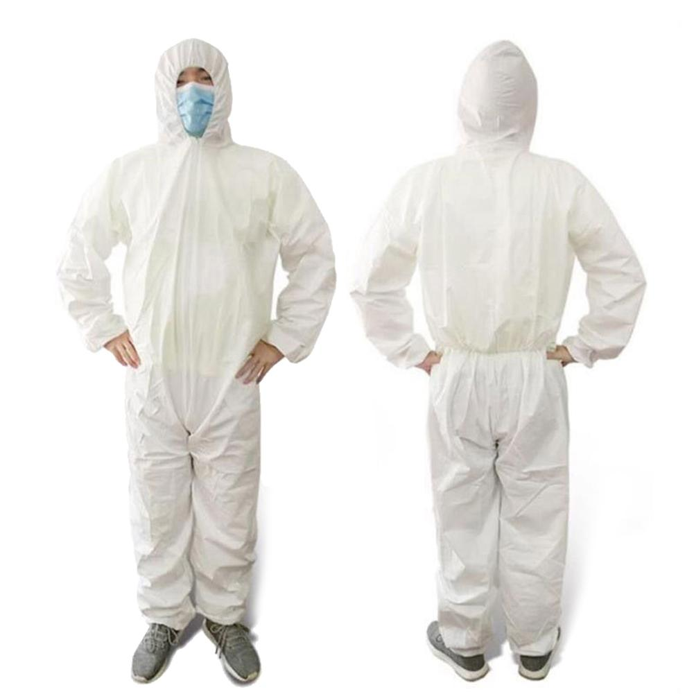 Disposable Coverall Security Clothes Dust-proof Clothing Isolation Clothes <font><b>Labour</b></font> Suit One Pieces Nonwovens Set Cycling Anti-Fog image