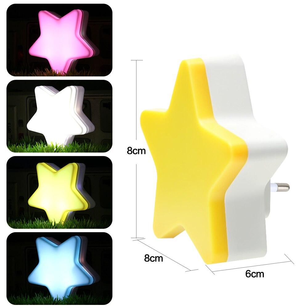 NEW Sensor Control Mini Star Moon LED Night Light For Dark Night Children Bedroom Bedside Lamp EU/US Plug Baby Sleeping L