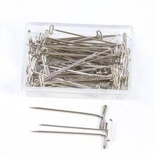 Длинные серебряные Т образные шпильки для удержания париков