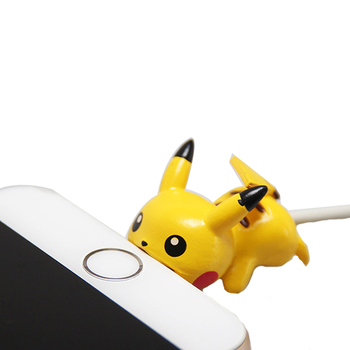 Cute Pokemon Go Cable Protector USB Charging Cable Take A Bite Pikachu Cable Chompers