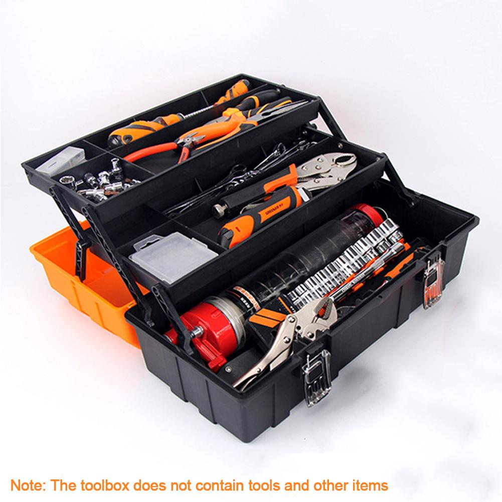 17-Inch 3-layer Household Maintenance Electrician Tool Box Multifunctional Hardware Auto Car Repair Thicken Toolbox With Handle