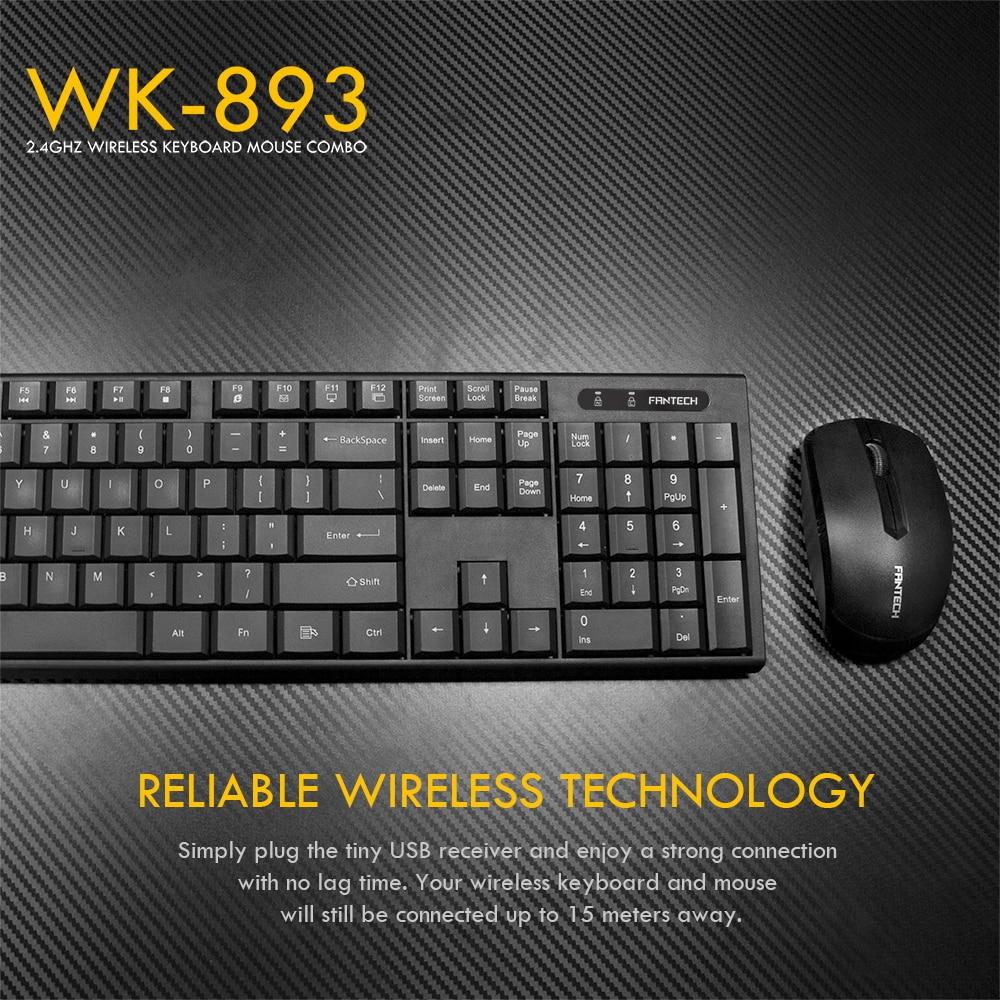 Fantech WK-893 Wireless Keyboard Mouse Combo 5