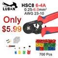 HSC8 6-6 HSC8 6-4 MINI-TYPE pince à sertir auto-réglable 0.25-6mm 6-16mm multi-outils pinces mains haut marque LUBAN
