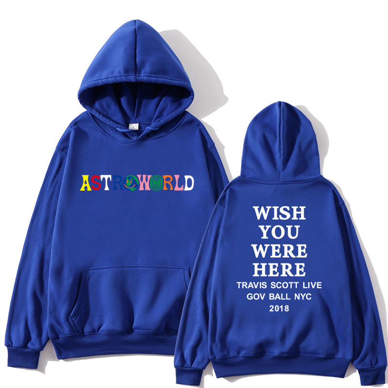 Travis Scotts ASTROWORLD Hoodie Men's Printed Letters Printed Wishes You Want Here Hoodie Plus US Size S-XXL